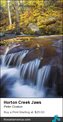Horton Creek Jaws by Peter Coskun - Photograph - Photography