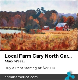 Local Farm Cary North Carolina by Mary Wassil - Painting - Oil On Canvas