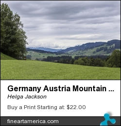 Germany Austria Mountain View 24 by Helga Jackson - Photograph