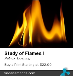 Study Of Flames I by Patrick  Boening - Photograph