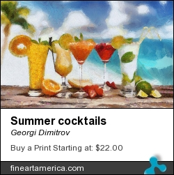 Summer Cocktails by Georgi Dimitrov - Painting - Digital Painting