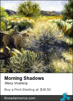 Morning Shadows by Stacy Vosberg - Painting - Oil On Canvas