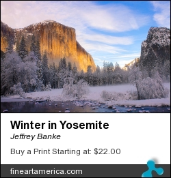 Winter In Yosemite by Jeffrey Banke - Photograph
