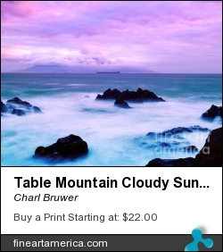 Table Mountain Cloudy Sunset by Charl Bruwer - Photograph - Photograph