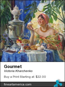 Gourmet by Victoria Kharchenko - Painting - Oil On Canvas