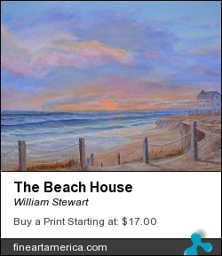 The Beach House by William Stewart - Painting - Aqrylic