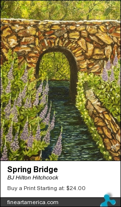 Spring Bridge by BJ Hilton Hitchcock - Painting
