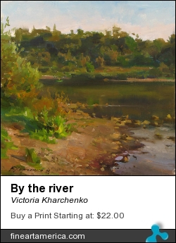 By The River by Victoria Kharchenko - Painting - Oil On Canvas