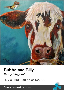 Bubba And Billy by Kathy Fitzgerald - Painting - Acrylic On Birchwood Panel