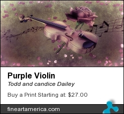 Purple Violin by Todd and candice Dailey - Photograph - Photography