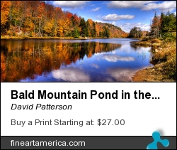 Bald Mountain Pond In The Adirondack Mountains by David Patterson - Photograph - Photography Hdr