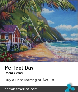Perfect Day by John Clark - Painting - Acrylic On Canvas