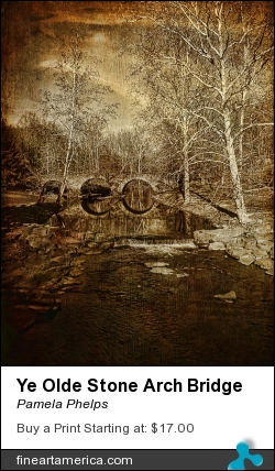 Ye Olde Stone Arch Bridge by Pamela Phelps - Photograph - Textured Photography