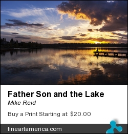 Father Son And The Lake by Mike Reid - Photograph - Photography