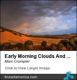 Early Morning Clouds And Rainbow by Marc Crumpler - Photograph