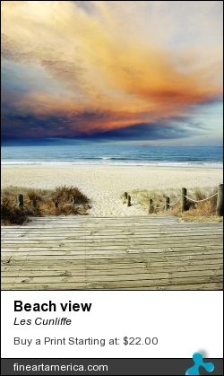 Beach View by Les Cunliffe - Photograph - Photograph
