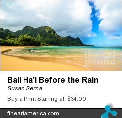 Bali Ha'i Before The Rain by Susan Serna - Photograph - Digital