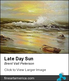 Late Day Sun by Brent Vall Peterson - Painting - Oil On Canvas