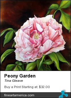 Peony Garden by Tina Gleave - Painting - Painting With Dye On Silk
