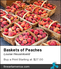 Baskets Of Peaches by Louise Heusinkveld - Photograph - Photograph