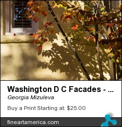 Washington D C Facades - Dupont Circle Neighborhood - Playing With Shadows by Georgia Mizuleva - Photograph - Fine Art Photograph