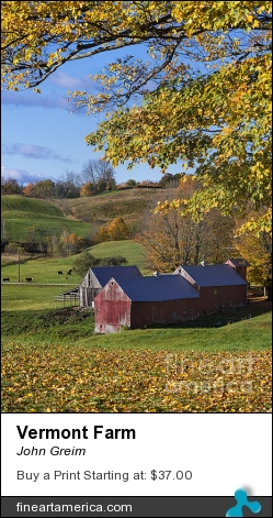 Vermont Farm by John Greim - Photograph - Photography