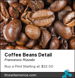Coffee Beans Detail by Francesco Rizzato - Photograph