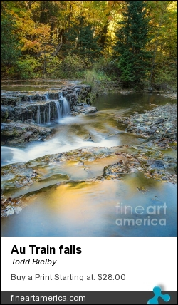 Au Train Falls by Todd Bielby - Photograph - Photography