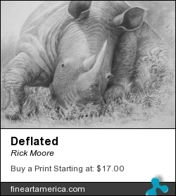 Deflated by Rick Moore - Drawing - Graphite On Paper