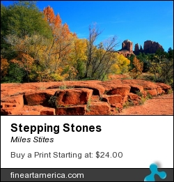 Stepping Stones by Miles Stites - Photograph
