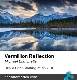 Vermillion Reflection by Michael Blanchette - Photograph