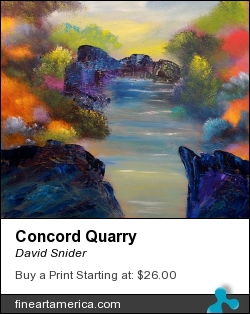 Concord Quarry by David Snider - Painting - Oil On Canvas
