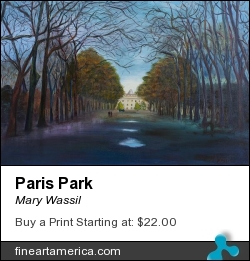 Paris Park by Mary Wassil - Painting - Oil On Canvas