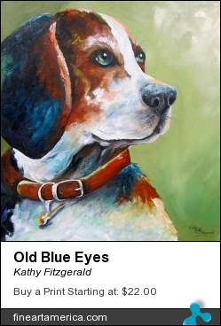 Old Blue Eyes by Kathy Fitzgerald - Painting - Acrylic On Canvas