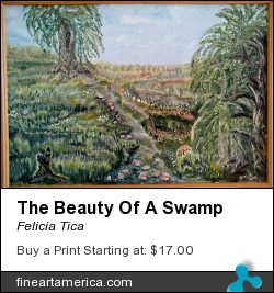 The Beauty Of A Swamp by Felicia Tica - Painting - Acrylic On Canvas