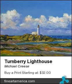 Turnberry Lighthouse by Michael Creese - Painting - Oil On Canvas