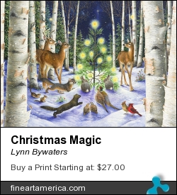 Christmas Magic by Lynn Bywaters - Painting - Gouache On Strathmore Paper