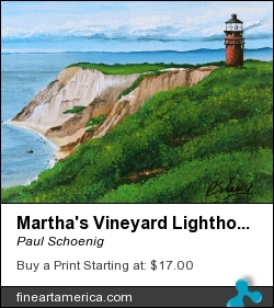 Martha's Vineyard Lighthouse by Paul Schoenig - Painting - Acrylic On Canvas