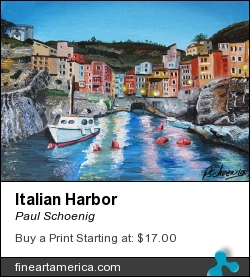 Italian Harbor by Paul Schoenig - Painting - Acrylic On Canvas