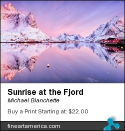 Sunrise At The Fjord by Michael Blanchette - Photograph