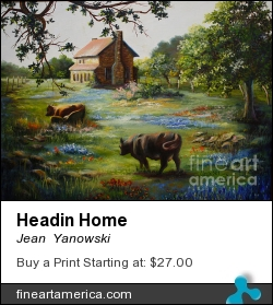 Headin Home by Jean  Yanowski - Painting - Oil On Canvas