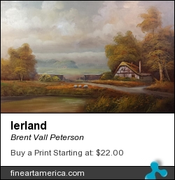 Ierland by Brent Vall Peterson - Painting - Oil On Canvas