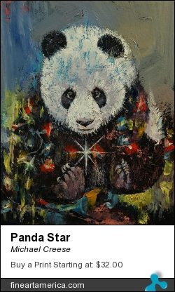 Panda Starfire by Michael Creese - Painting - Oil On Canvas
