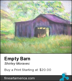 Empty Barn by Shirley Moravec - Photograph - Pastel On Paper