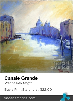 Canale Grande by Viacheslav Rogin - Pastel - Pastel, Colorpaper