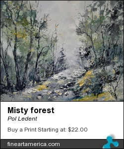 Misty Forest by Pol Ledent - Painting - Oil On Canvas