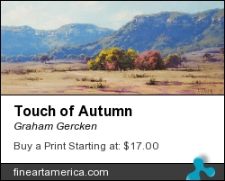 Touch Of Autumn by Graham Gercken - Painting - Oil On Canvas