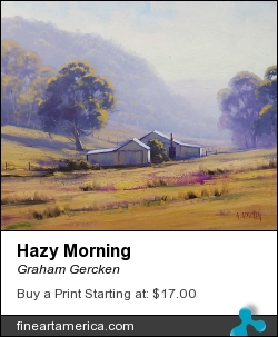 Hazy Morning by Graham Gercken - Painting - Oil On Canvas