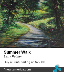 Summer Walk by Larry Palmer - Painting - Acrylic On Cancvas