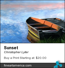 Sunset by Christopher Lyter - Painting - Oil On Canvas